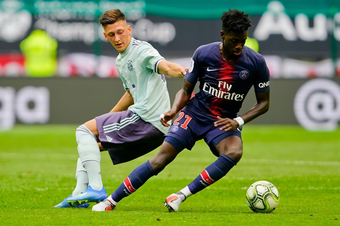 timothy-weah-bayern-munich-vs-psg-international-champions-cup-2018